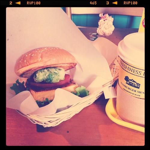 ベジタブルバーガー(トーフ)Vegetable burger (Tofu)
