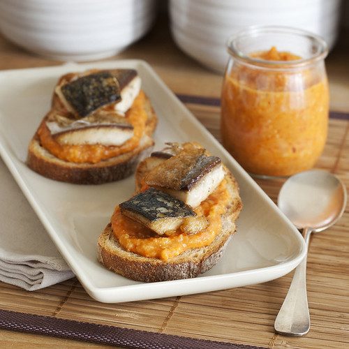 Pan Seared Mackerel & Romesco Tartines