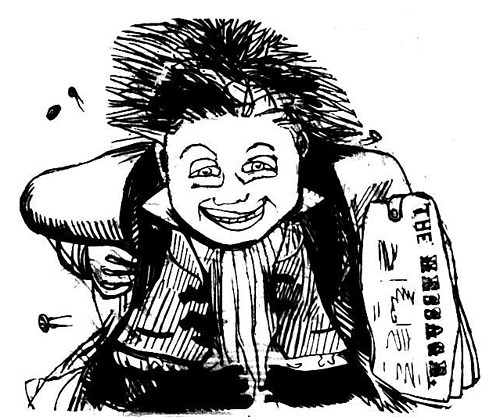 Scary Newsboy