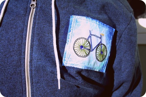 Boy Bike Embroidery!