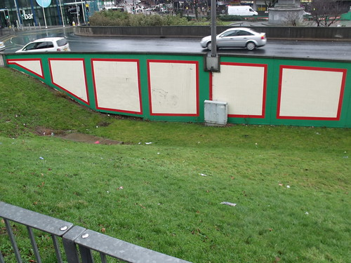 Former subway in Holloway Circus - grassed over