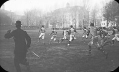 Football game on campus, McGill University, Montreal, QC, about 1900 (Muse McCord Museum) Tags: canada football mccordmuseum musemccord