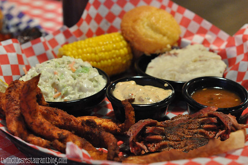 Catfish & Beef Brisket Combo at Famous Dave's BBQ ~Forest Lake, MN