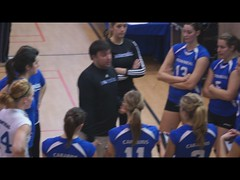 Women's College Volleyball VIDEO Sherbrooke Rouge Et Or VS Universit de Montral Carabins, Timeout, Sony A55, Montreal, 16 January 2011 (3) (proacguy1) Tags: montreal timeout sonya55 womenscollegevolleyballvideosherbrookerougeetorvsuniversitdemontralcarabins 16january2011