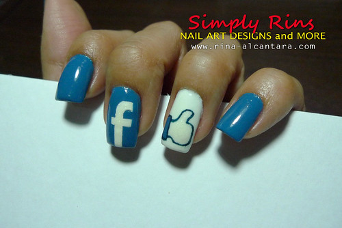 Facebook Nail Art Design 09