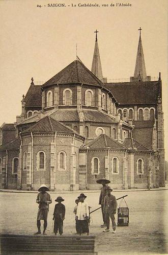 Saigon - La Cathédrale, vue de l'Abside
