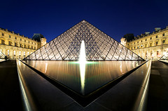 the louvre | paris, france (s o u t h e n) Tags: longexposure nightphotography paris france art museum architecture night nikon europe nightshot pyramid ryan louvre eu icon symmetry symmetrical bluehour artmuseum iconic nocturne 2010 impei parisfrance thelouvre southen ryansouthen d700 nikond700 ryansouthenphotography ryansouthenarchitecture
