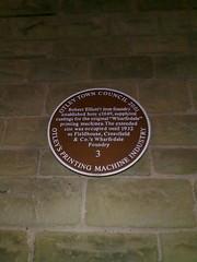 Photo of Robert Elliot brown plaque