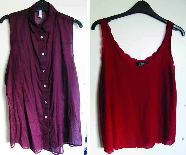 red tops topshop american apparel