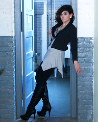 Alex (Bacchic Hiccups) Tags: portrait girl boots doorway fns