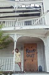 (yyellowbird) Tags: house abandoned girl florida porch cari keepout saddleshoes fortpierce