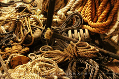 Tangled Mess (RichardRuddle) Tags: usa canon boat maryland rope baltimore mast tallship constellation innerharbor sailingship sloop ussconstellation 50d