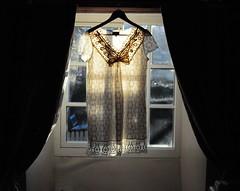 (SnapHappyRaa) Tags: morning winter light sun window vintage dress lace cream