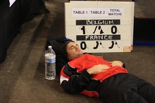 joueur belge fatigué