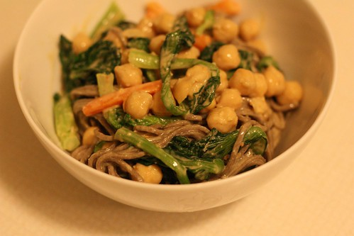 Soba with Peanut-Citrus Sauce and Chickpeas