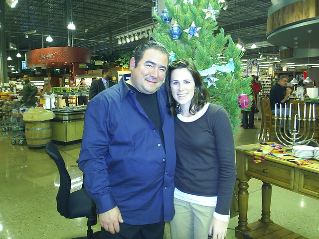 Baker, left, seen here with another Food Network star, Chef Emeril Lagasse.