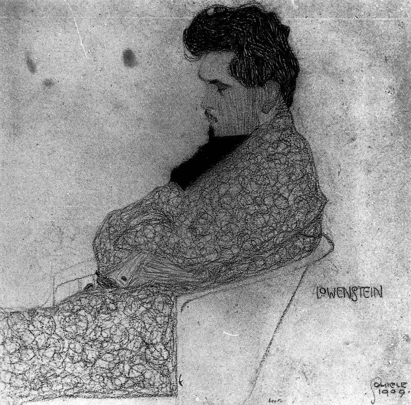 Schiele, Egon (1890-1918) - 1909 Portrait of the Composer Arthur Lowenstein (Sotheby's New York, 2008)