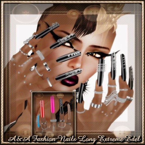 A&A Fashion Nails Long Extreme Edel