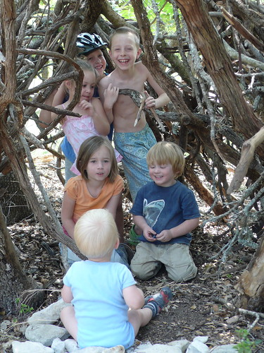 A fairy-house/fort the children made