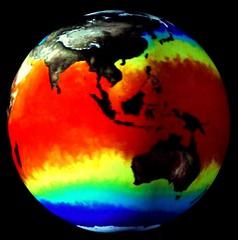 Australia on climate globe, National Museum of...