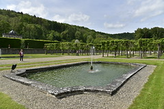 L'une des fontaines (Flikkersteph -4,000,000 views ,thank you!) Tags: springtime garden waterpool fountain tranquillity landscape nature footpaths reflecting wonderful hills slopes cloudy shadow trees foliage castle hastire wallonia belgium