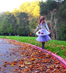 Yes.  ~EXPLORE!~ (bellejune) Tags: grass fashion hair halloweencostume explore redcurb atumnleaves unpuf bellejune