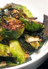 Maple Dijon Roasted Brussel Sprouts