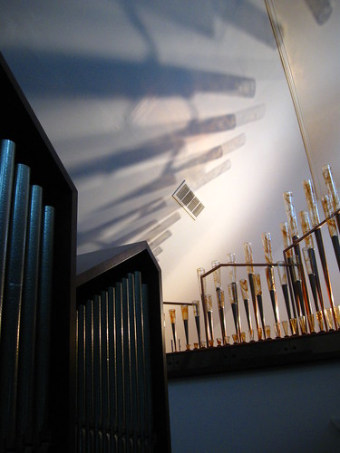 Möller Organ with Glass Pipes