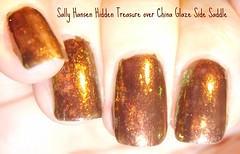 Sally Hansen Hidden Treasure over China Glaze Side Saddle (ballekarina) Tags: nailpolish hiddentreasure chinaglaze