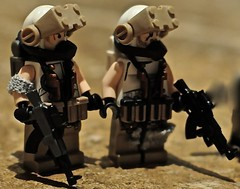 Soldiers. (The Chef!) Tags: lego hazel ama tiny custom tactical minifigures brickarms brickforge apocalego