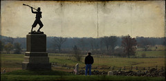 (untitled) (MonumentBoy) Tags: gettysburg remembranceday contemplation cemeteryridge theangle gettysburgremembranceday skeletalmess 72ndpainfantrymonument