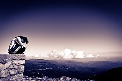mountaintop (hunter of moments) Tags: sky mountain art luz clouds landscape mujer nikon women paisaje cielo nubes montaa senderismo cima mountaintop matagalls montseny cumbre d5000