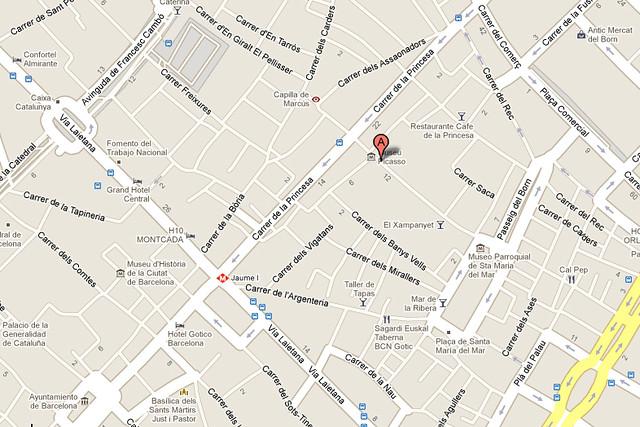 Mapa Museu Picasso