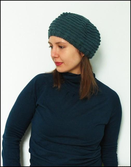 alex hat in petrol blue