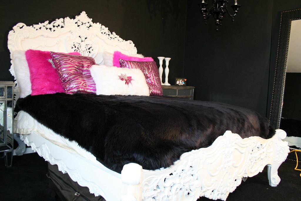 Baroque Mahogany Bed Diva Rocker Glam 424 245 4503 Tags
