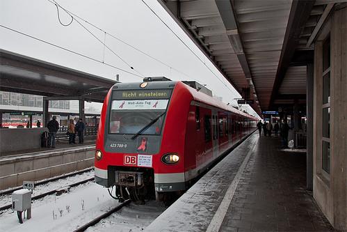 Der Sonderzug nach der Ankunft am Ostbahnhof