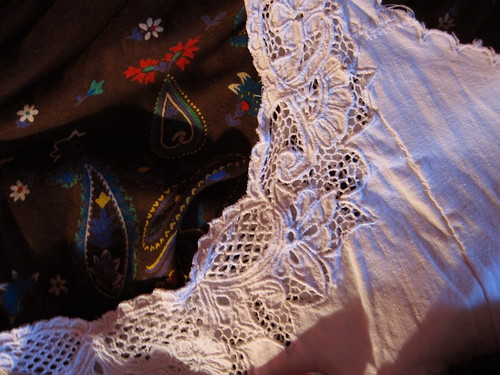 Lace and paisley
