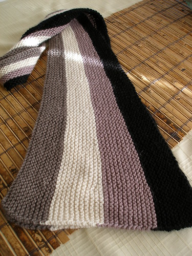 Wedge Vertical Stripe Scarf