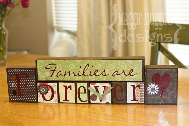 Families are Forever Vinyl Blocks
