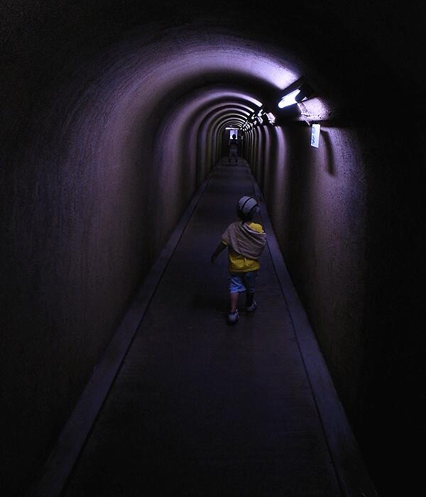トンネル@七ツ釜鍾乳洞