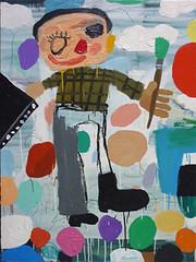 Matías Sánchez - Pintor Ruso con cuadro negro 2009