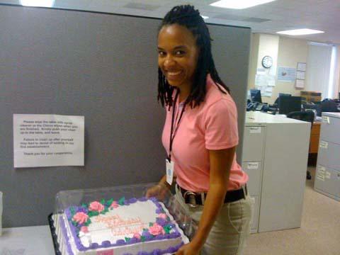 adrienne work cake