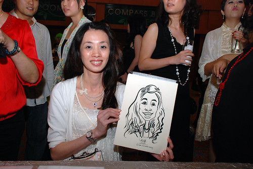 caricature live sketching for Ernst & Young D&D 2010 - 11