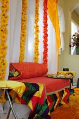 Mayoun Bridal Seat (klodhie) Tags: wedding yellow dance asia south muslim pakistani shaadi mayon kiran celebrate mehndi nikkah valima mayoun lodhie
