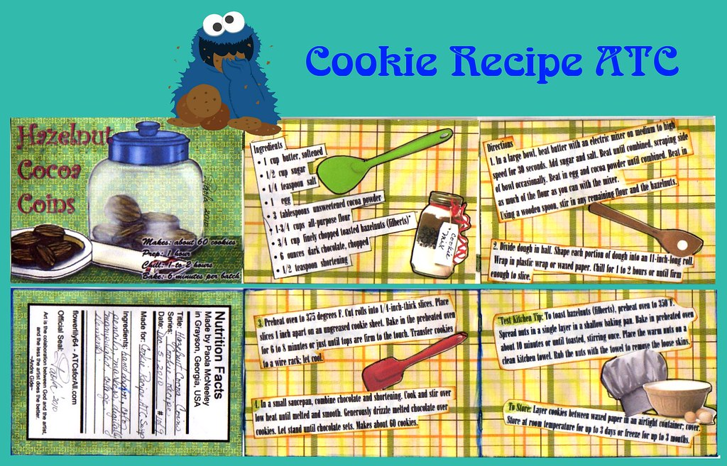 Cookie  recipe ATC front and back