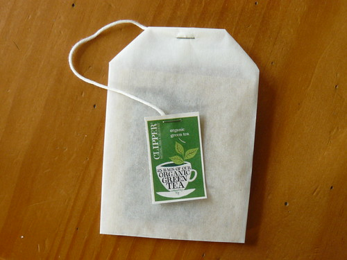 tea bag shaped