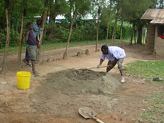 Mutsembi(shiloh)Nursery school-mixing of concrete during construction phase