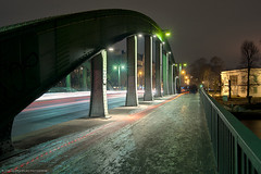 Iced Bridge And Cold Light (Dietrich Bojko Photographie) Tags: bridge light berlin evening abend licht perspective explore brcke frontpage lichter schlossbruecke