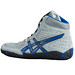 Asics Aggressor Grey and Royal Blue Wrestling Shoes 8