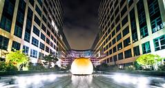 Augen-Centrum am Spreebogen (photo-maker) Tags: city berlin architecture night buildings germany deutschland nacht architektur gebude 2010 digitalcameraclub allemania 201009092116522